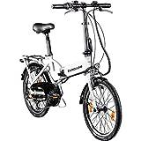Zündapp Faltrad E-Bike 20 Zoll Z101 Klapprad Pedelec StVZO Elektrofaltrad 6 Gang (weiß)