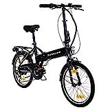 Zündapp Faltrad E-Bike 20 Zoll Z101 Klapprad Pedelec StVZO Elektrofaltrad 6 Gang (schwarz)